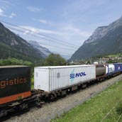 Intermodal freight on the Gotthard line